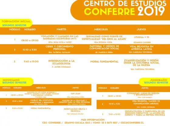 Horario CEC 2019