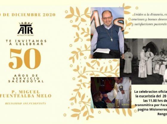 50 años P. Miguel Fuentealba
