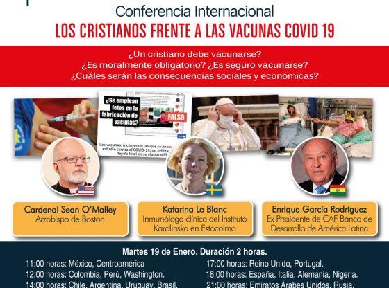 Card. Sean O'Malley dará conferencia mundial sobre vacunas Covid19